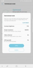 Performance modes - Samsung Galaxy Note8 review