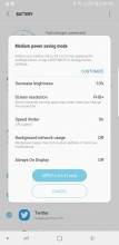 Medium power saving - Samsung Galaxy Note8 review