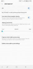 Bixby Voice settings - Samsung Galaxy Note8 review