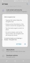 Pressing it hides the Nav Bar - Samsung Galaxy S8 Active review