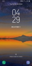 Lock screen & Lock screen notifications - Samsung Galaxy S8 Active review