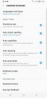 Keyboard - Samsung Galaxy S8+review
