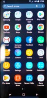 App drawer - Samsung Galaxy S8 Preview