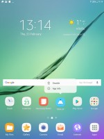 Shortcut options - Samsung Galaxy Tab S3 9.7