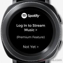 Spotify log-in screen - Samsung Gear Sport review
