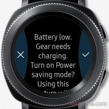 Battery low warning - Samsung Gear Sport review
