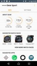 Check watch status - Samsung Gear Sport review