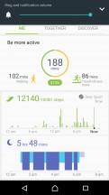 Health summary screen - Samsung Gear Sport review