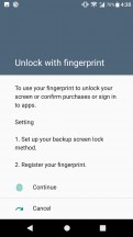 Fingerprint settings - Sony Xperia XA1 Plus review