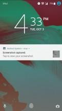 A notification - Sony Xperia XA1 Plus review