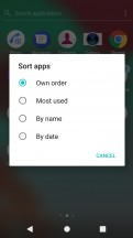 Sorting options - Sony Xperia XA1 Plus review