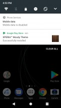 Notification area is vanilla Android - Sony Xperia XA1 Plus review