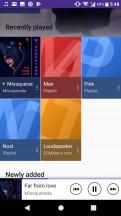 Music app - Sony Xperia XA1 Plus review