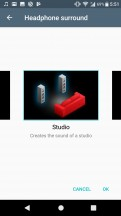 Audio settings - Sony Xperia XA1 Plus review