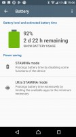 Stamina modes - Sony Xperia XA1 Ultra review