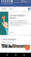 The Movie Creator can automatically or manually make shareable slideshows - Sony Xperia XZ Premium review