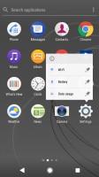 App contextual menu - Sony Xperia XZ1 Compact review