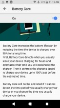 Battery saving modes - Sony Xperia XZ1 Compact review
