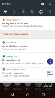 Notification area is vanilla Android - Sony Xperia XZs review