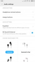 Audio settings - Xiaomi Mi Max 2 review
