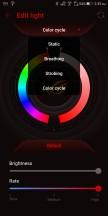Aura lighting settings - Asus ROG Phone review