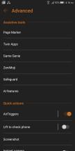 Advanced settings - Asus ROG Phone review