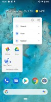 Folder view with app shortcuts - Google Pixel 3 review