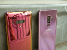 HTC U12+ next to the Galaxy S9+ - HTC U12+ hands-on review