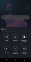 Home screen and options - HTC U12 Plus Review review