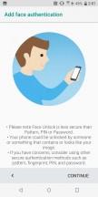 Face unlock - HTC U12 Plus Review review