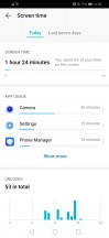 Digital balance menu - Huawei Honor 10 Lite review