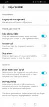 Fingerprint reader and face unlock settings - Huawei Honor 10 Lite review
