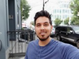 Portrait selfie samples - f/1.9, ISO 50, 1/380s - LG V40 ThinQ hands-on review