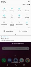 User interface: Quick toggles - LG V40 Thinq Hands On review