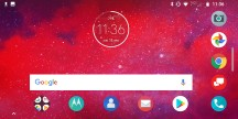 Rotated home screen - Moto Z3 review