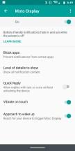 Moto Display: Settings - Moto Z3 review