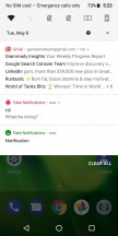 notifications and quick toggles - Motorola Moto G6 Play review
