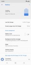 Battery menu - Nokia 5.1 Plus review