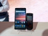 The Nokia 8 Sirocco next to the Nokia 8800 Sirocco - Nokia MWC 2018 review