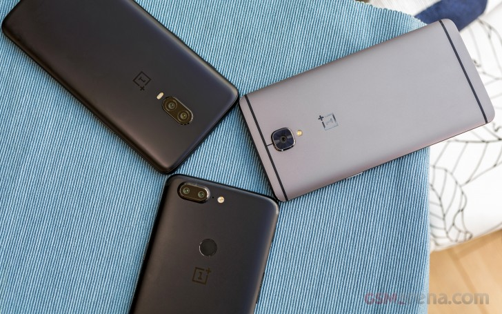 OnePlus 6T vs. 5T vs. 3T evolution