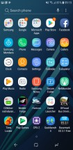 App drawer - Samsung Galaxy A6 (2018) review