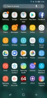 app drawer - Samsung Galaxy A8 (2018) review