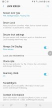 Lockscreen settings - Samsung Galaxy Note9 review