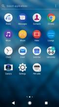 App drawer - Sony Xperia XA2 review