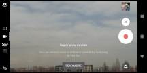 Video recorder UI - Sony Xperia XZ2 review