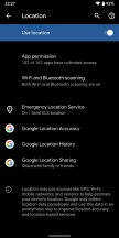 New Location and Security menus - Android Q Beta review