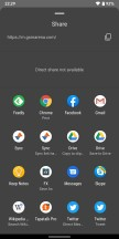 Share menu is faster - Android Q Beta review