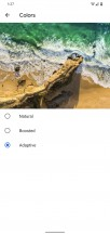 Color profile selector - Google Pixel 4 Xl review