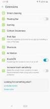 Screen lock settings including Hand ID and Face Unlock - LG G8 Thinq review