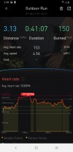 Outdoor running workout stats - Mobvoi TicWatch Pro 4G LTE review